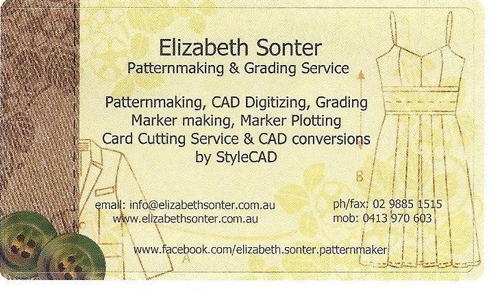 Elizabeth Sonter Patternmaking & Grading Service
